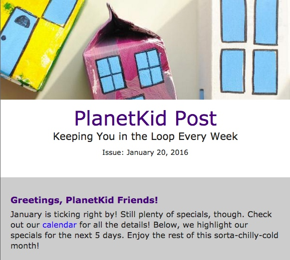 PlanetKid Post: January 21, 2016